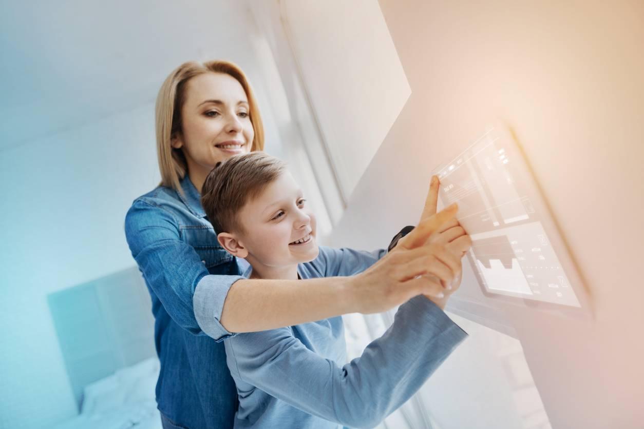la domotique facilite la vie de la famille