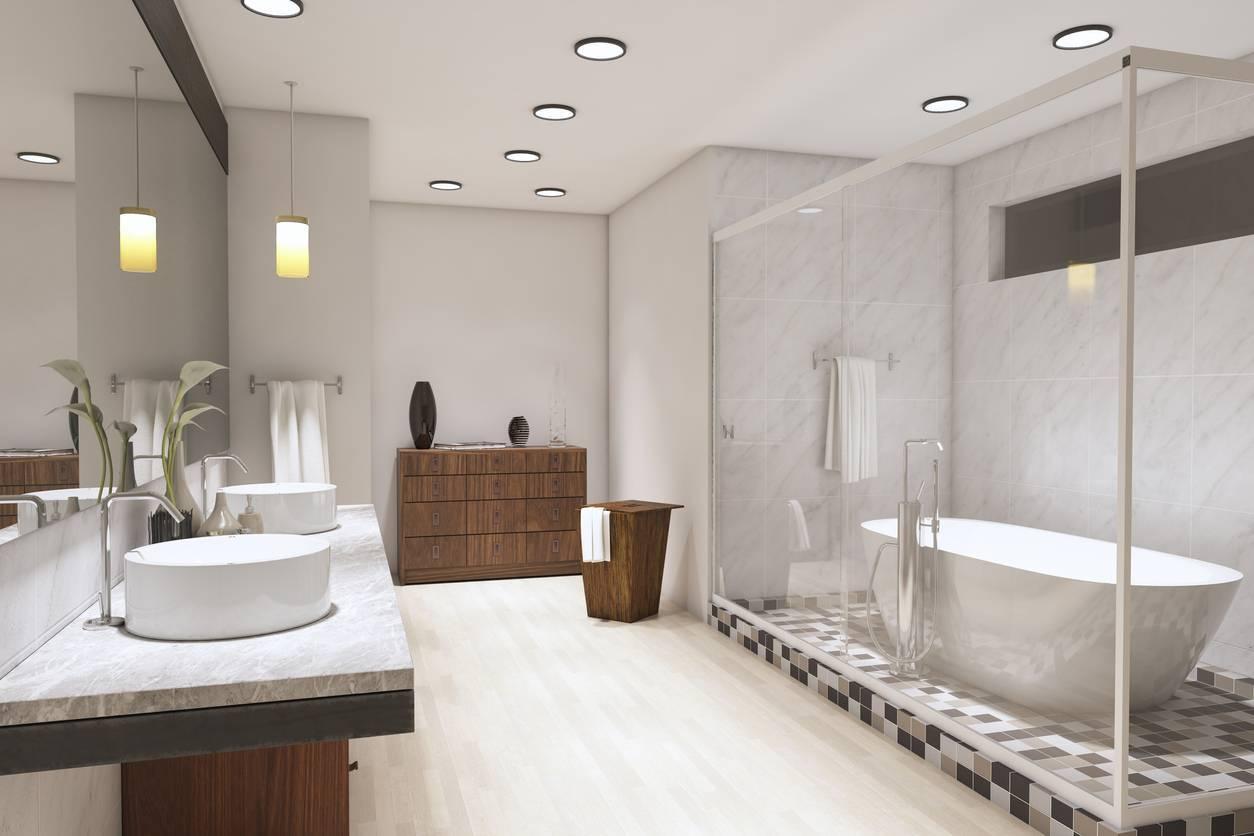 éclairage direct tamisé salle de bain