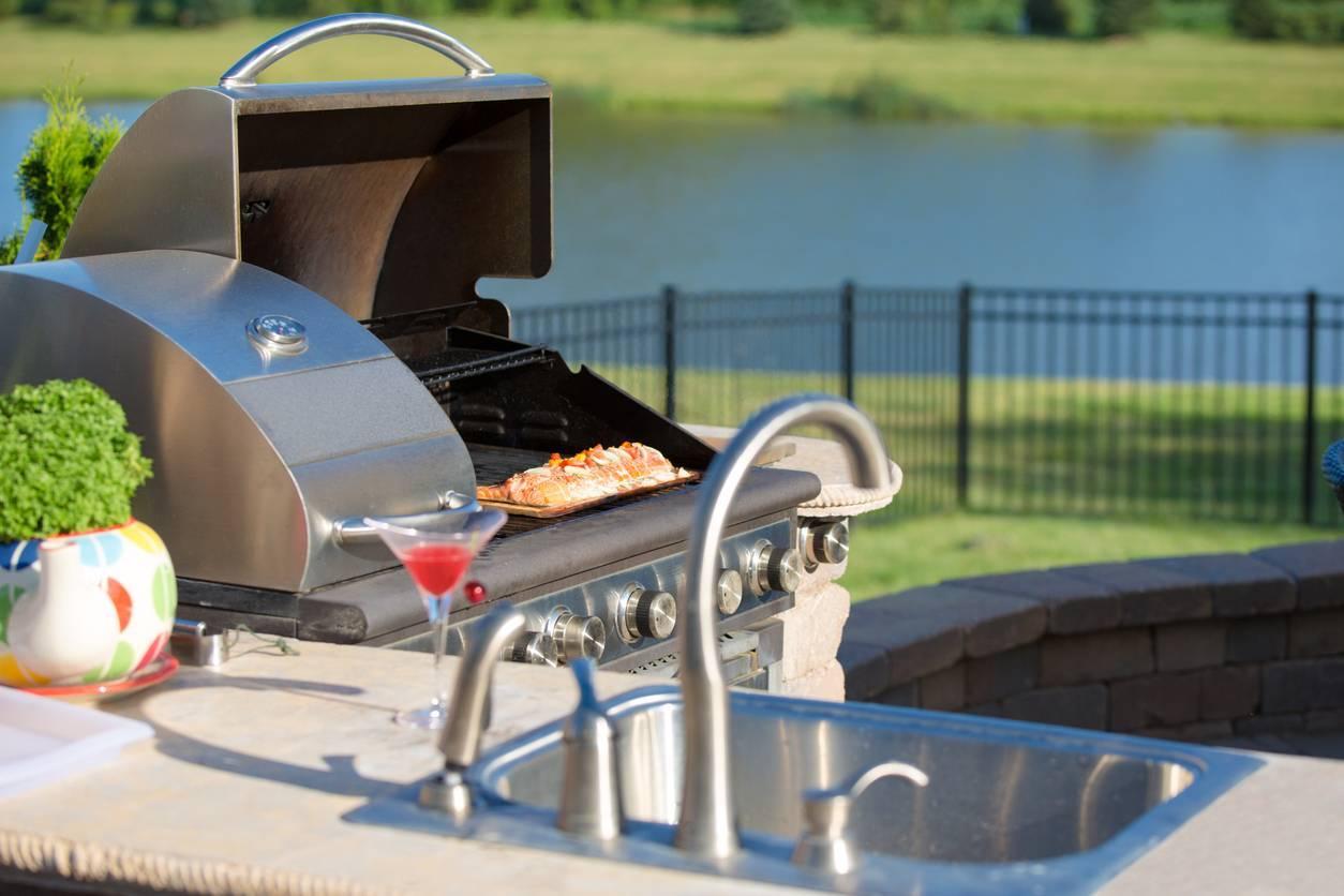 aménagement cuisine d'été