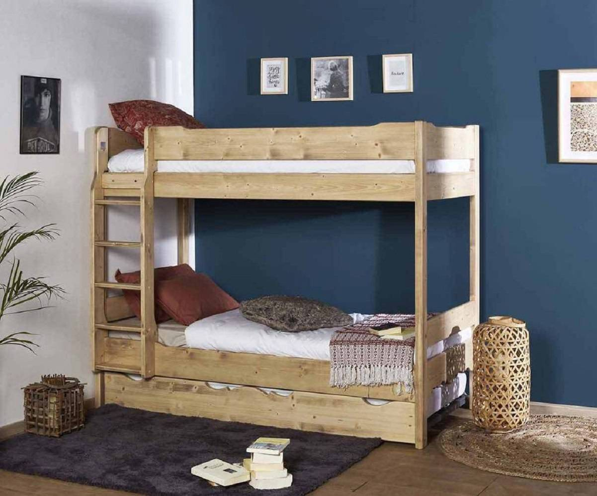 lit superposé en bois