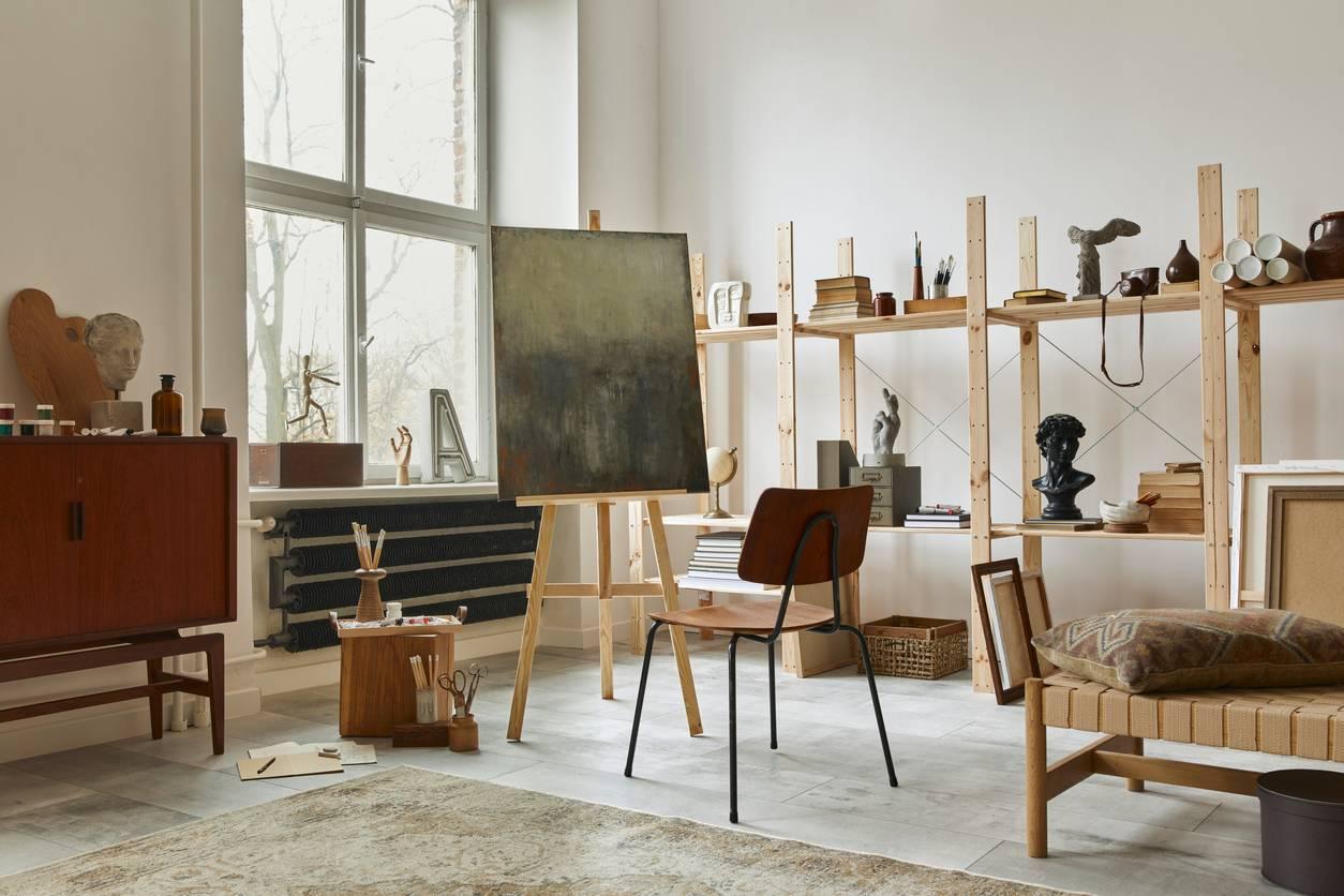 armoire d'atelier pour peintre professionnel