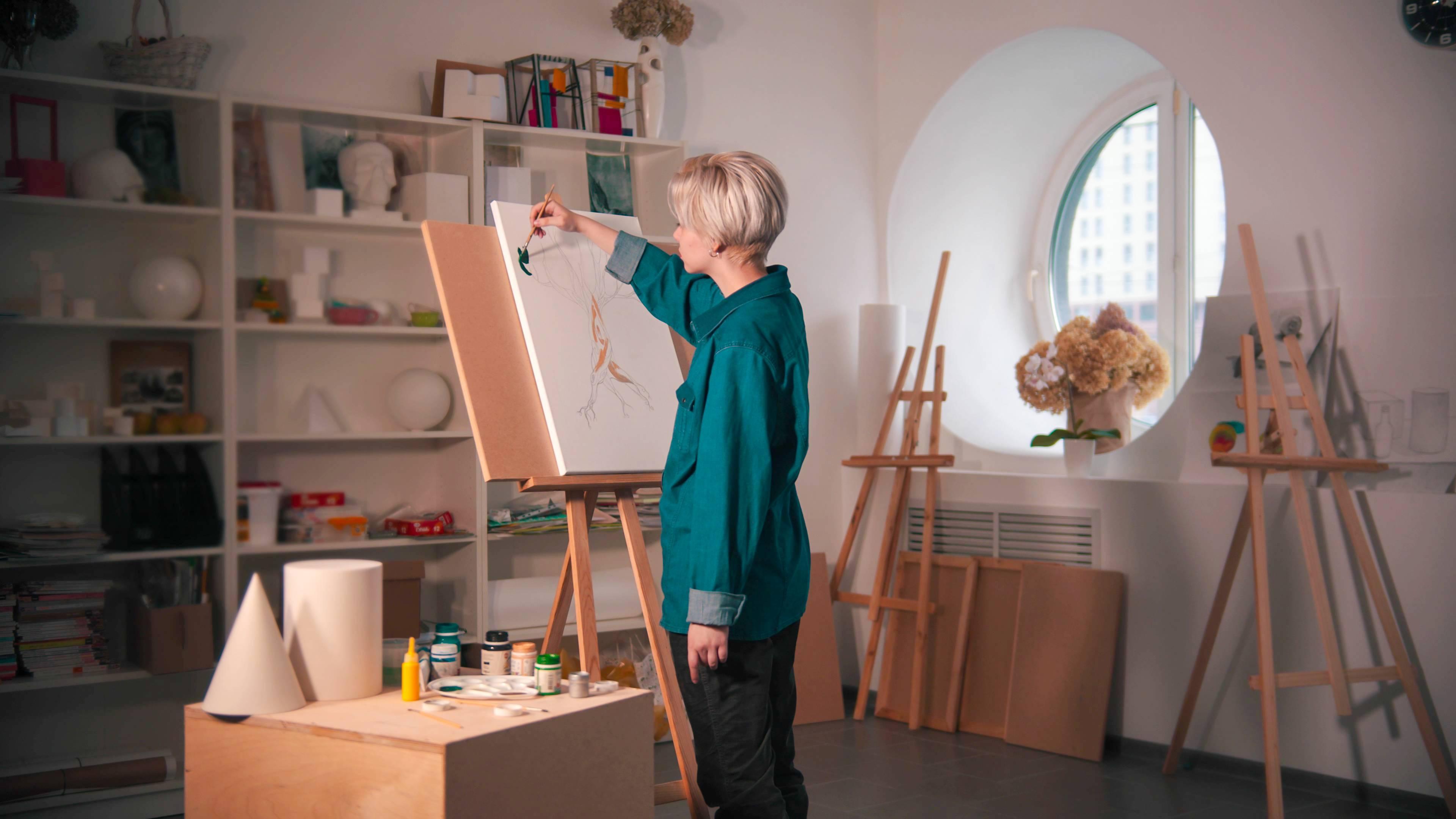 aménager un atelier de peinture